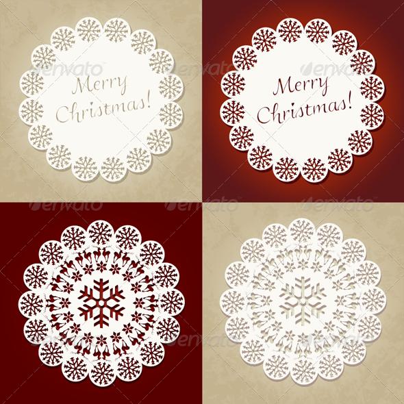 Merry Christmas - Vector Christmas Cards Set - Christmas Seasons/Holidays