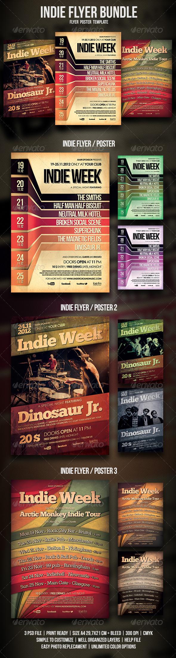 Indie Flyer / Poster Bundle - Events Flyers