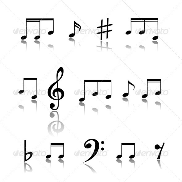 Music Notes - Decorative Symbols Decorative