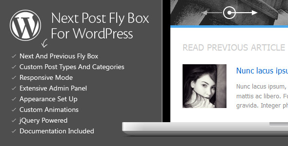 Premium WordPress Plugins v3.2 Next Post Fly Box For WordPress