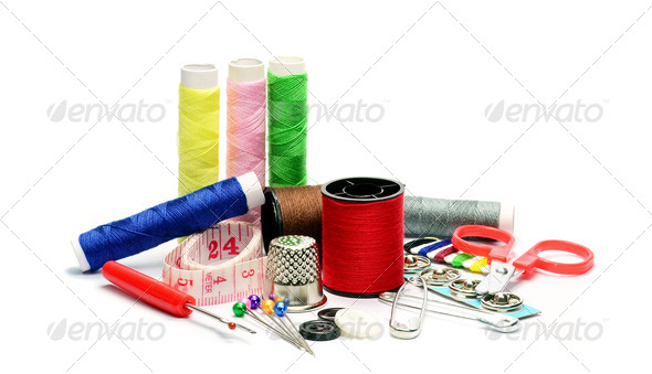 Sewing Utensils - Stock Photo - Images