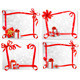 Set of Holiday Backgrounds with Red Gift Bows - GraphicRiver Item for Sale