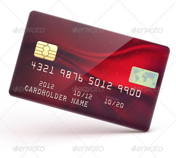 Red Credit Card - Commercial / Shopping Conceptual