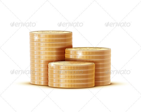Stacks of Golden Coins - Concepts Business