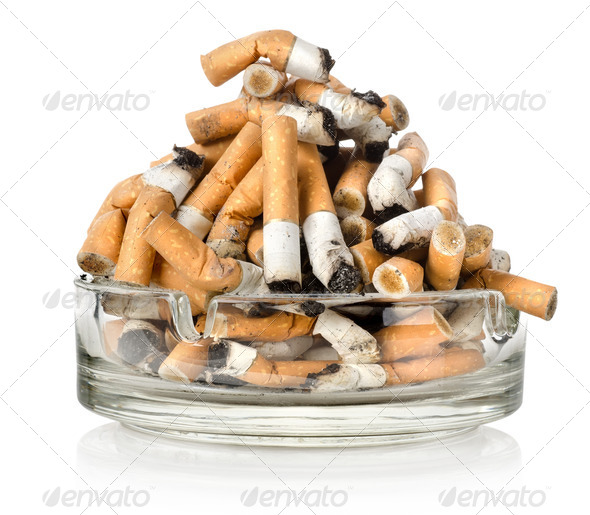 Ashtray and cigarettes - Stock Photo - Images