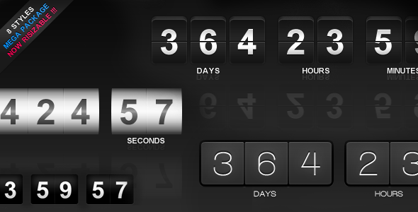 jCountdown Mega Package - CodeCanyon Item for Sale