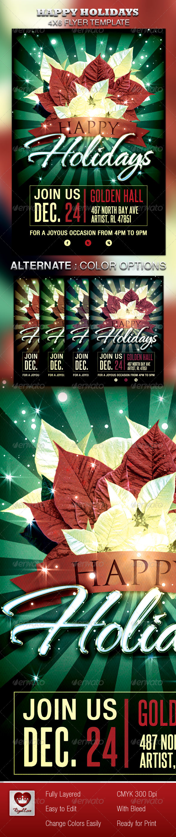 Happy Holidays Flyer - Holidays Events