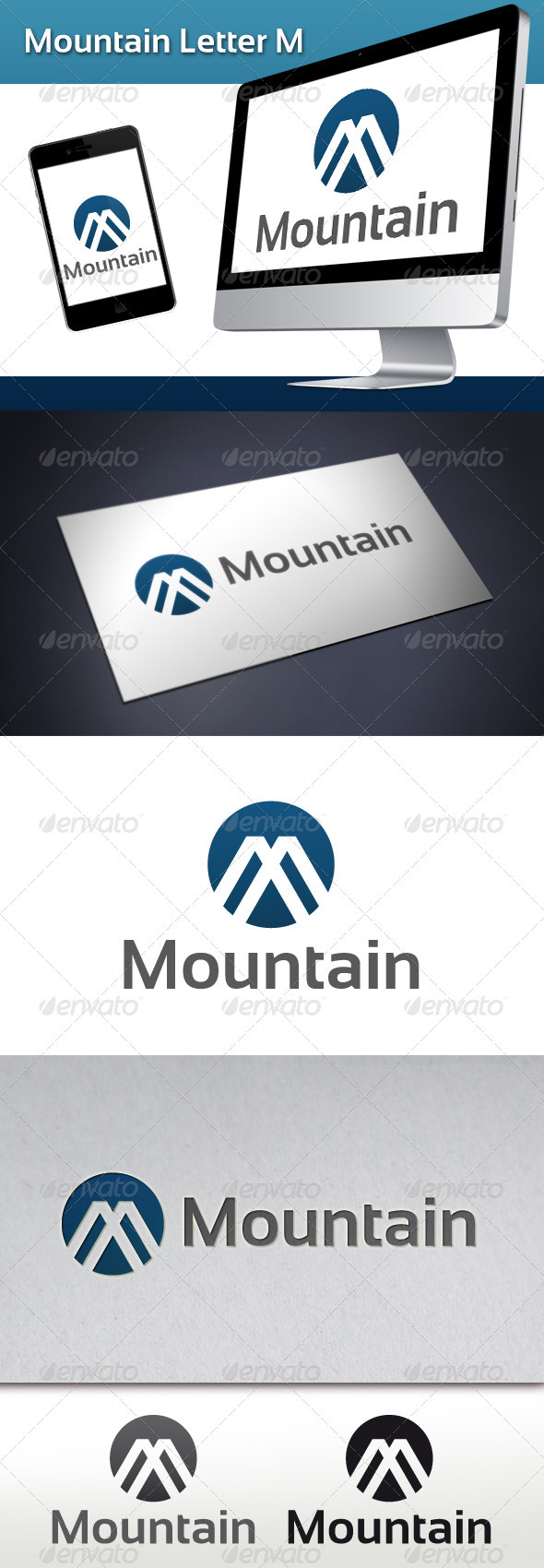 Mountain Letter M Logo - Abstract Logo Templates