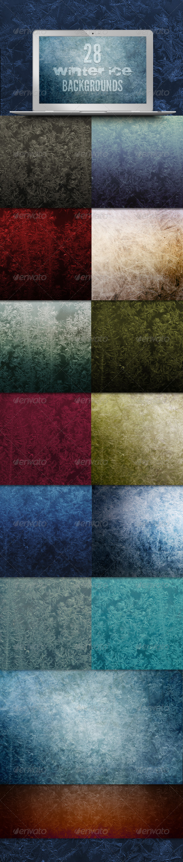 28 Winter Ice Backgrounds - Abstract Backgrounds