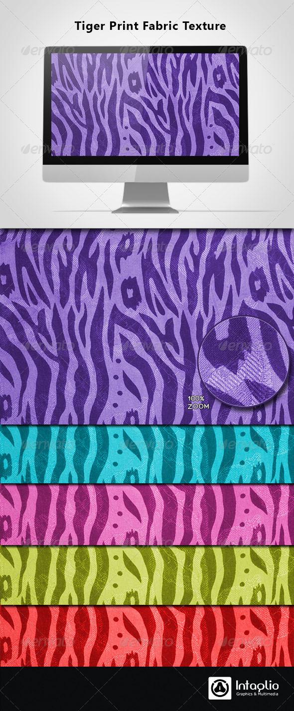 Tiger Print Fabric Texture - Fabric Textures