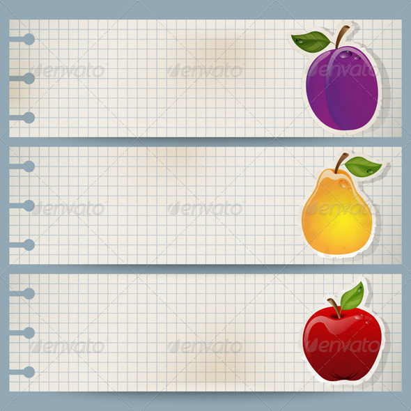 Fruit Banners - Web Elements Vectors