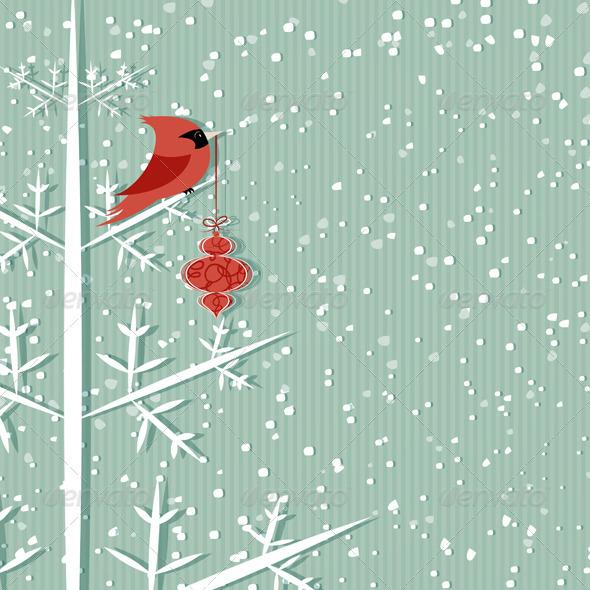 Red Cardinal - Christmas Seasons/Holidays