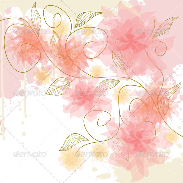 Flowers - Backgrounds Decorative