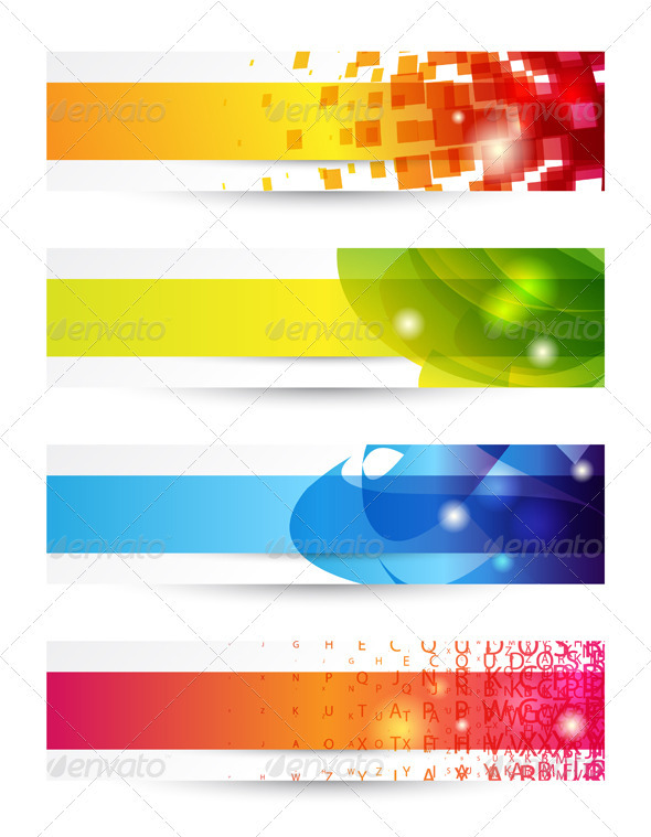 Four Banners - Backgrounds Decorative