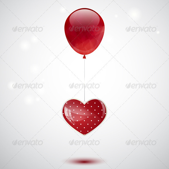 Heart and Balloon - Valentines Seasons/Holidays