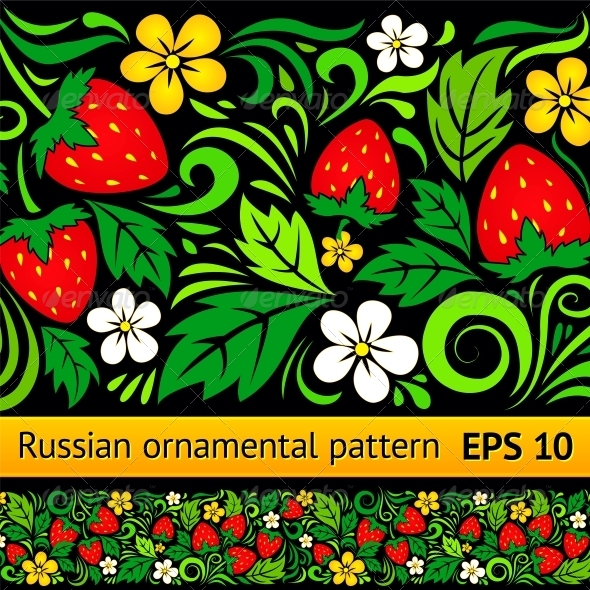 Vector Floral Ornamental Pattern - Patterns Decorative