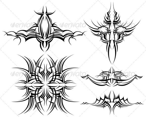 Vector Design Elements - Tattoos Vectors
