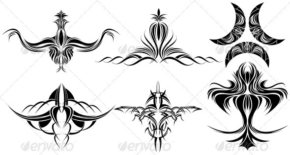 Design Elements - Tattoos Vectors
