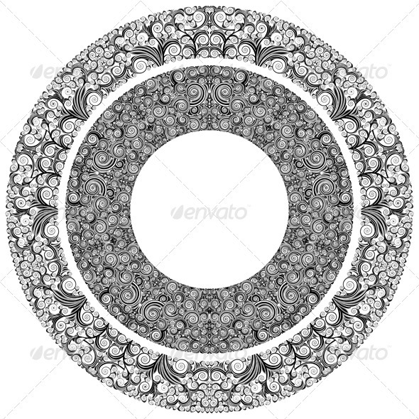 Ornamented Circles - Borders Decorative