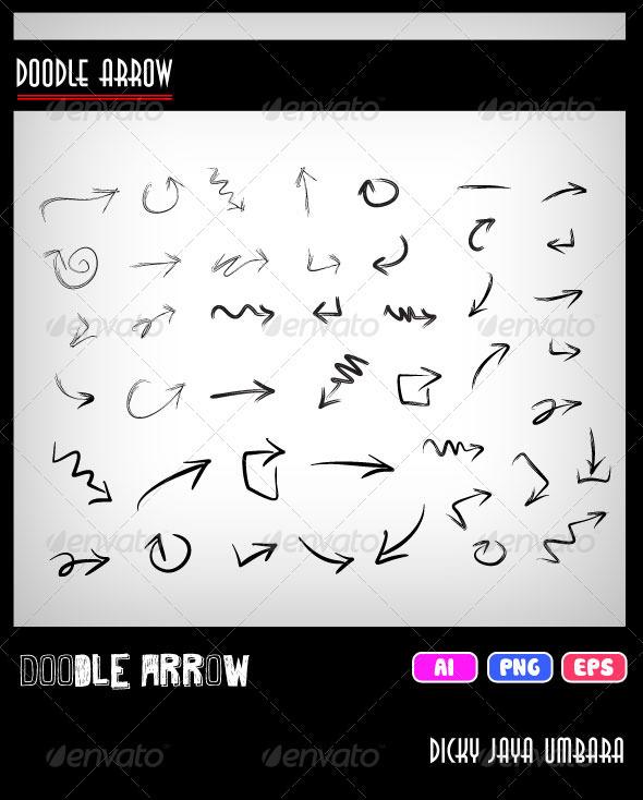 Doodle Arrow - Web Elements Vectors