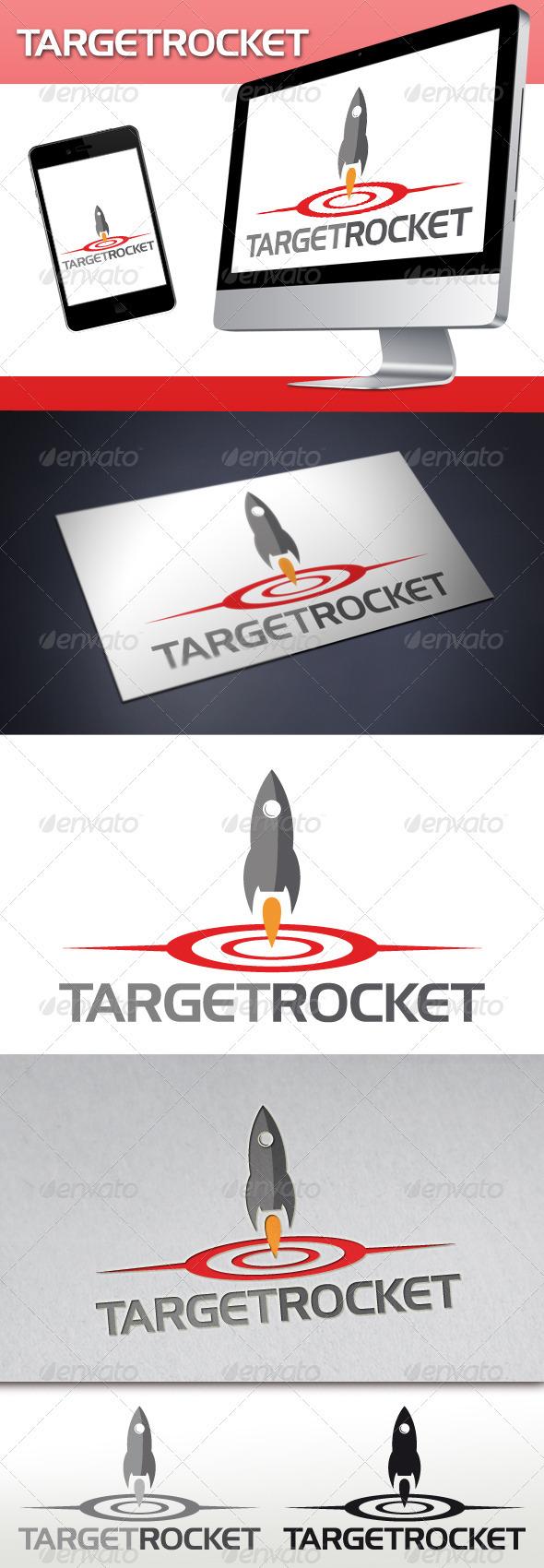 Target Rocket Logo - Objects Logo Templates