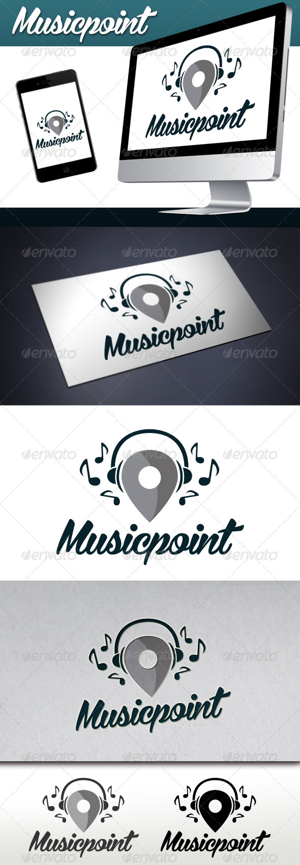 Music Locator Logo - Symbols Logo Templates