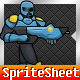 Space Marine Game Sprite Sheet with Coordinates - GraphicRiver Item for Sale