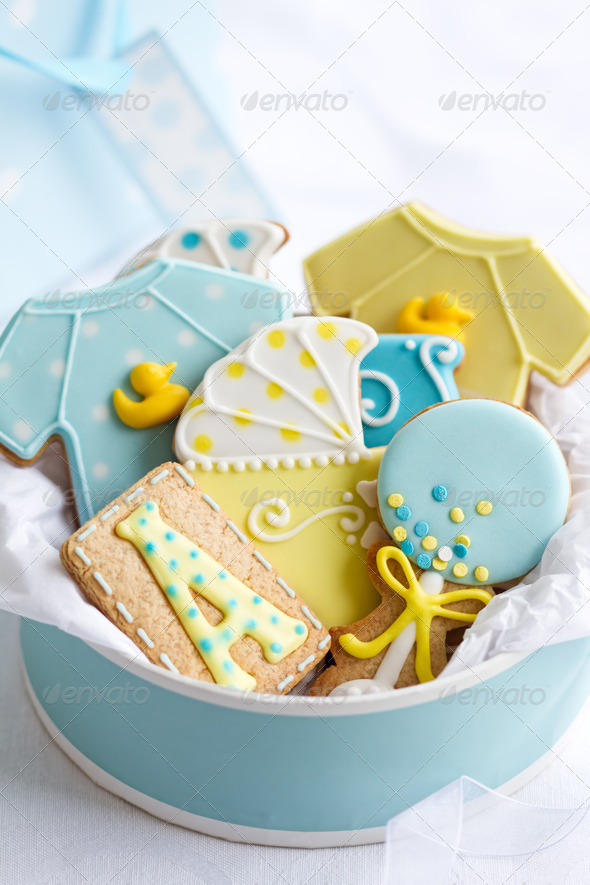 Baby shower cookies - Stock Photo - Images