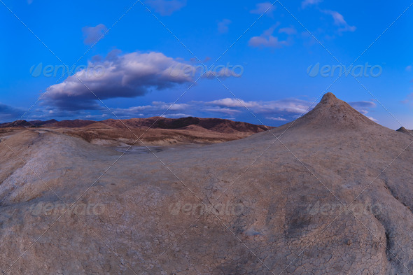 Mud Volcanoes in Buzau, Romania - Stock Photo - Images
