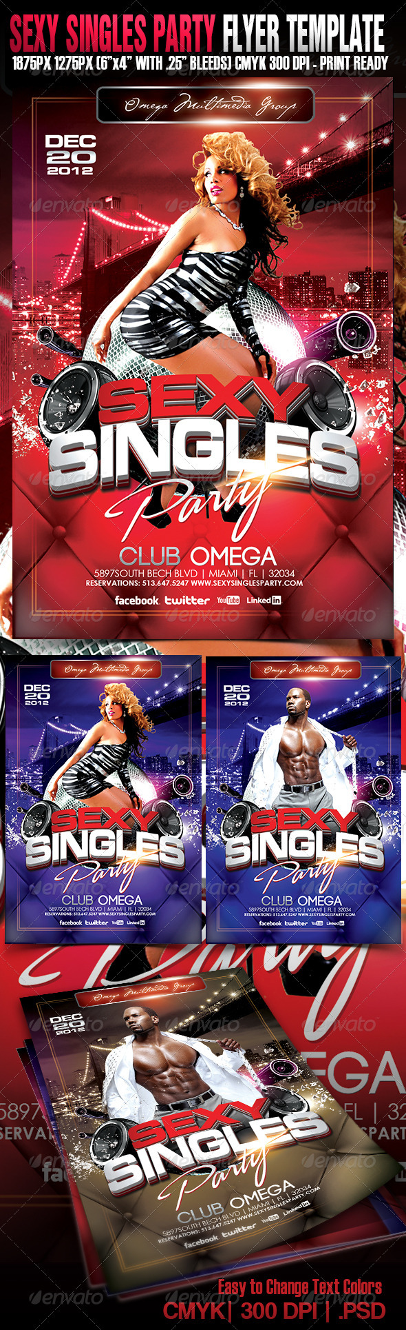 Sexy Singles Party - Events Flyers