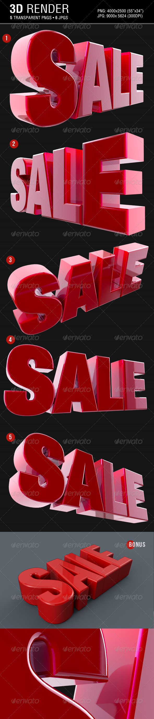 Sale 3D Text Render - Text 3D Renders