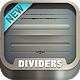 Web Dividers - Fully Customizable - GraphicRiver Item for Sale