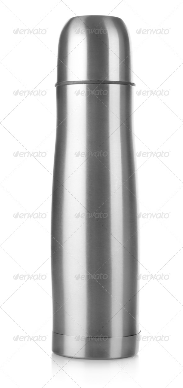 Stainless steel thermos - Stock Photo - Images