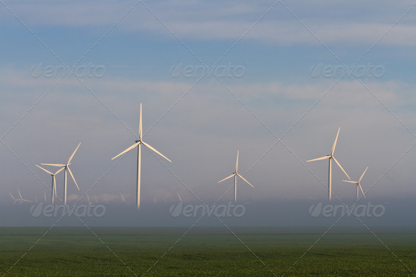 wind power turbines  - Stock Photo - Images
