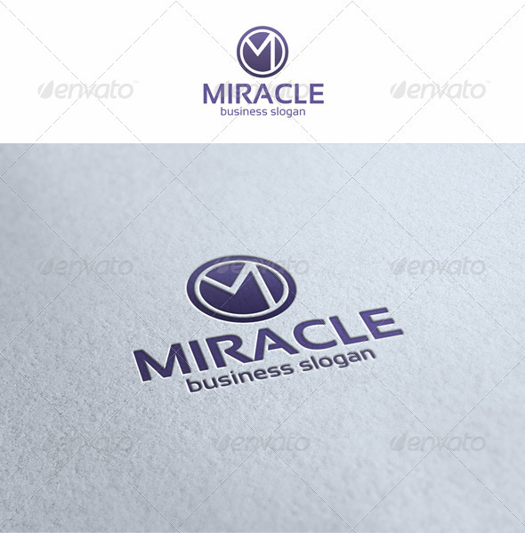 Miracle - M Logo Template - Letters Logo Templates