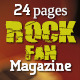24 Pages Rock Fan Magazine - GraphicRiver Item for Sale