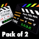 3D Clapperboard - Pack of 2 - VideoHive Item for Sale