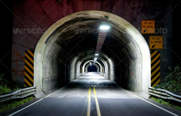 Highway Tunnel - Stock Photo - Images