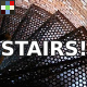 Running on Metal Stairs