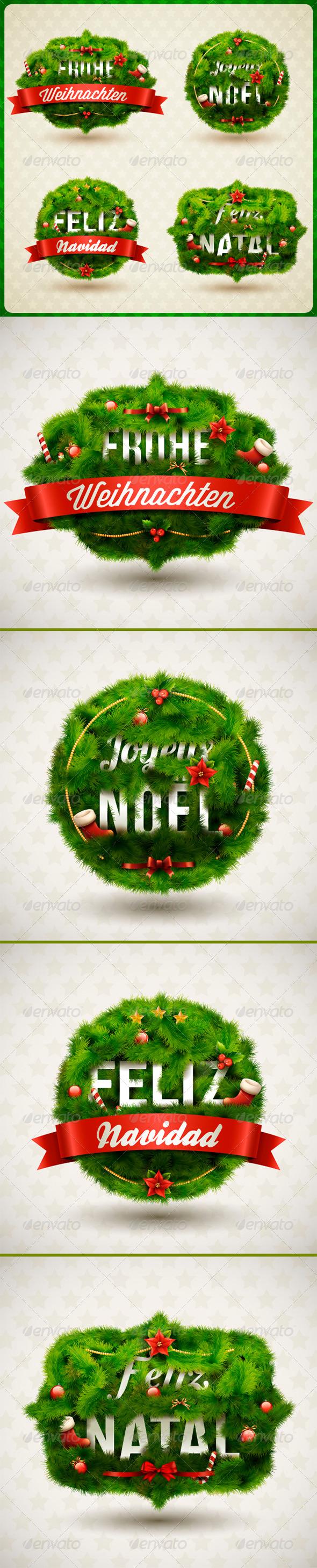 Merry Christmas, Creative Label - Christmas Seasons/Holidays