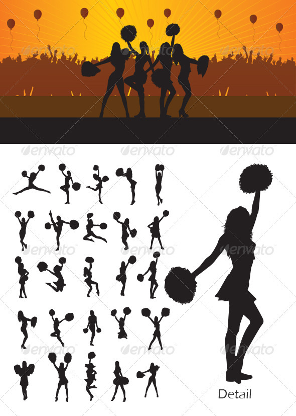 Cheerleader Silhouette - Sports/Activity Conceptual
