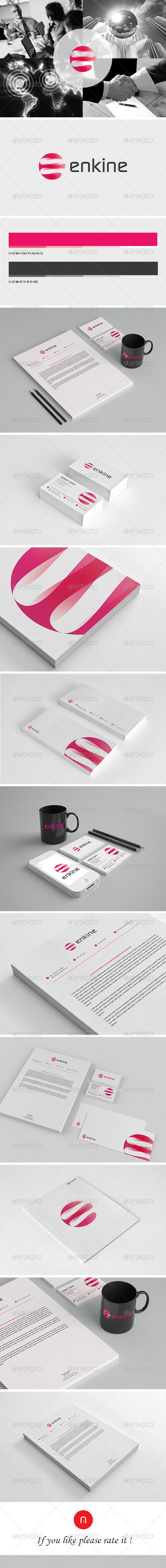 Stationary & Brand Identity - Enkine - Stationery Print Templates