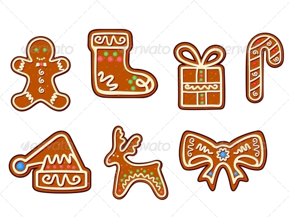 Gingerbread Holiday Objects - Christmas Seasons/Holidays
