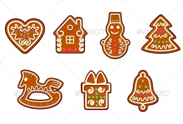 Gingerbread Christmas Objects - Christmas Seasons/Holidays