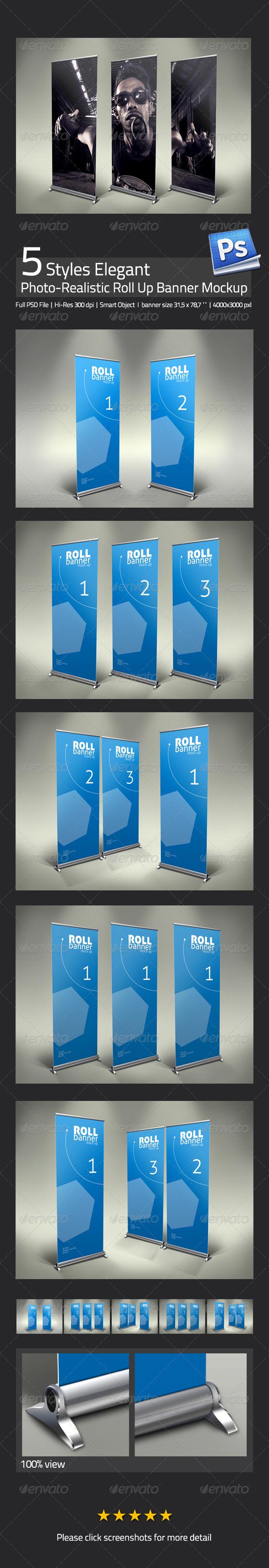 Elegant Professional Roll Up Banner Mock Up - Signage Print