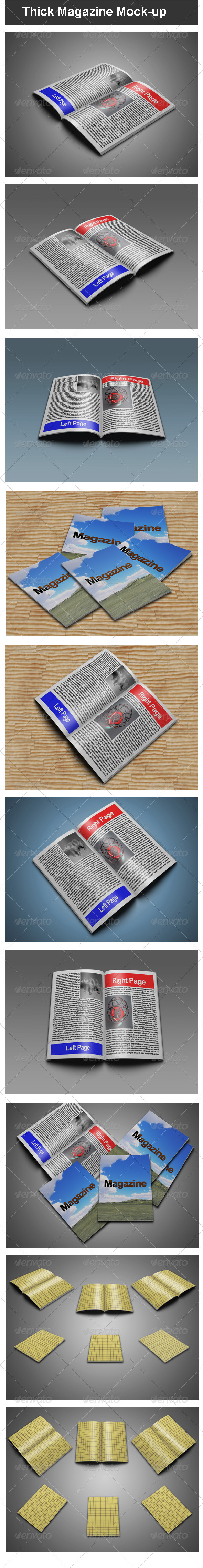 Thick Magazine Mock-up - Magazines Print