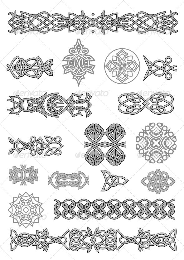 Celtic Ornaments and Patterns - Decorative Symbols Decorative