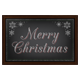 Merry Christmas Sign On Black Chalkboard - GraphicRiver Item for Sale