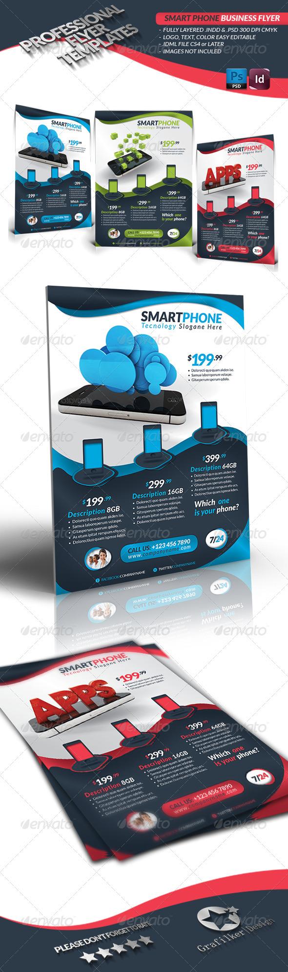 Smart Phone Business Flyer - Commerce Flyers