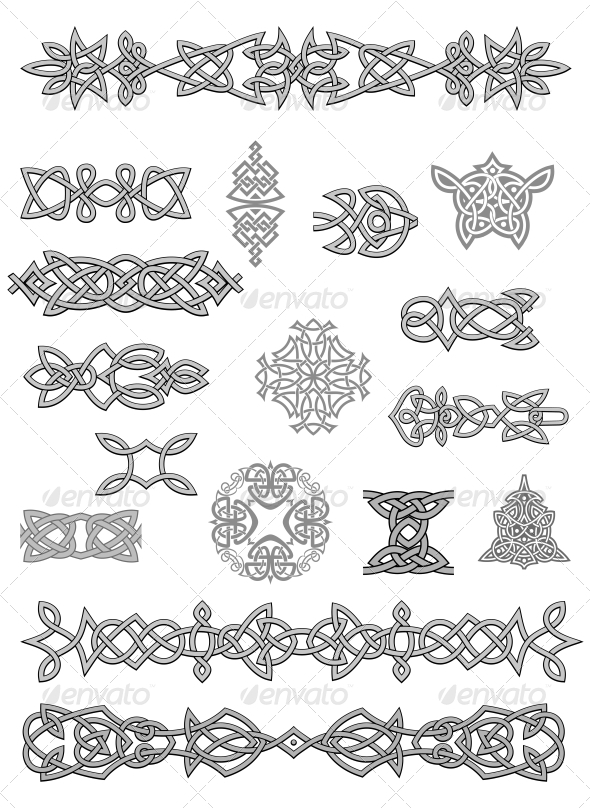 Celtic Oornaments - Decorative Symbols Decorative